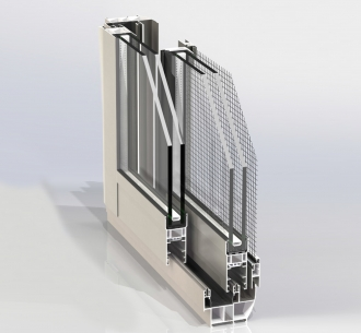 NW55SS | Sliding window (double rails)