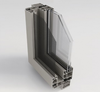 NWS55OU | Casement window open out with Mesh